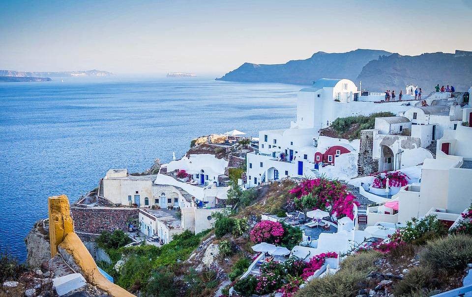 Charakterystyczna zabudowa Santorini